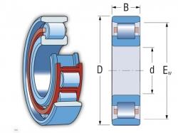 Ložisko N 210 ECP  SKF