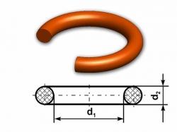 O-kroužek MVQ 60 ShA 13,6x2,3 (18x14) Rubena