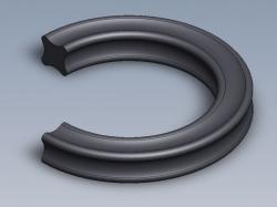 X-kroužek NBR 70 ShA 2,84x2,62 Dichtomatik