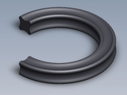 X-kroužek NBR 70 ShA 12,37x2,62 Dichtomatik