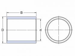 Pouzdro, masivní bronz SKF PBM 557050 M1G1